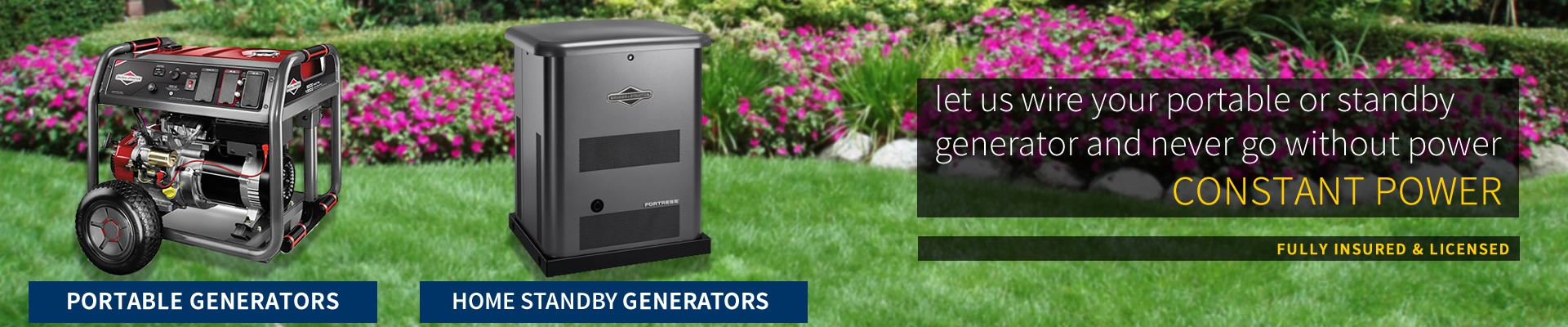 DE Small Electric - Residential Portable and Standby generator install