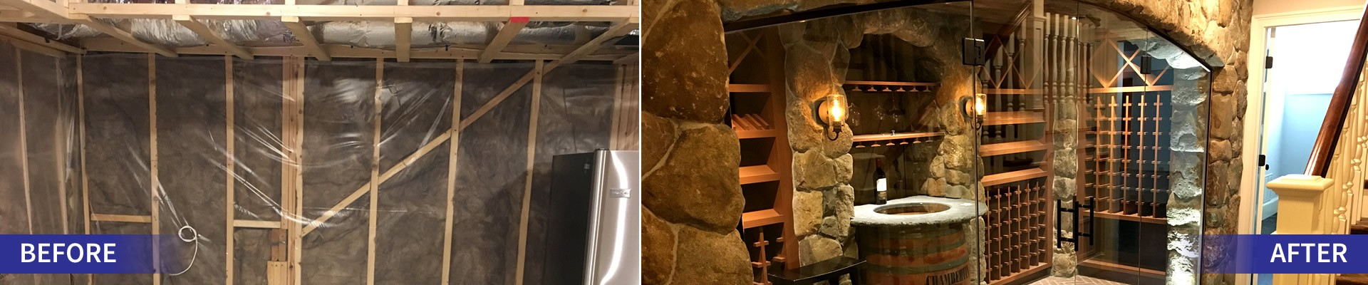 DE Small Electric - Before After of Wine Cellar